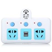 GY-011 一转二带2位USB插口 分控开关 电源转换器/转换插头/插座/插排
