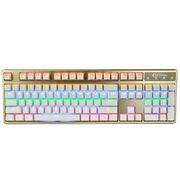 凯酷 Hero 104 LED荣耀版 香槟金混光机械键盘 游戏键盘 茶轴