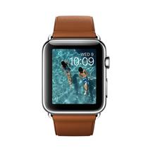 苹果 Watch 智能手表(42mm/不锈钢表壳/鞍褐色经典扣式表带)产品图片主图