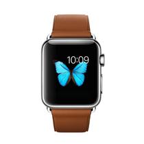 苹果 Watch 智能手表(38mm/不锈钢表壳/鞍褐色经典扣式表带)产品图片主图