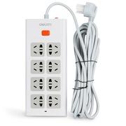 得力 3806 新国标8位总控电源插座/插排/插线板/拖线板 过载保护 4.8米