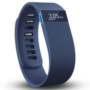 Fitbit Charge 智能手环  自动睡眠记录 来电显示 运动蓝牙手表计步器 蓝色 L