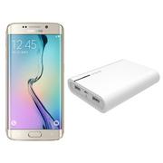 三星 Galaxy S6 edge(G9250)32G版 铂光金 移动联通电信4G手机(配大容量移动电源套装)