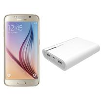 三星 Galaxy S6(G9200)32G版 铂光金 移动联通电信4G手机 双卡双待(配大容量移动电源套装)产品图片主图