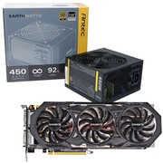 安钛克 额定450W EAG450电源+技嘉GV-N970WF3OC-4GD GTX970 1114-1253MHz/7010MHz 4GB/256bit GDDR5显卡