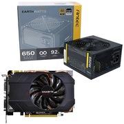 安钛克 额定650W EAG650电源+技嘉GV-N970IXOC-4GD GTX970 1076MHZ/7010MHZ 4GB/265bit DDR5 PCI-E显卡