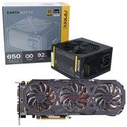 安钛克 额定650W EAG650 金牌电源+技嘉(GIGABYTE)GV-N970G1 GAMING-4GD GTX970 显卡
