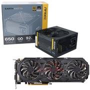 安钛克 额定650W EAG650 金牌电源+技嘉(GIGABYTE)GV-N980G1 GAMING-4GD GTX980 显卡