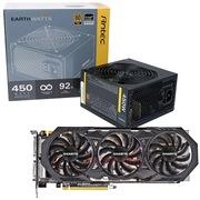 安钛克 额定450W EAG450 金牌电源+技嘉(GIGABYTE)GV-N970WF3-4GD GTX970 显卡