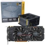安钛克 额定450W EAG450 金牌电源+技嘉(GIGABYTE)GV-N960WF2OC-2GD GTX960 显卡