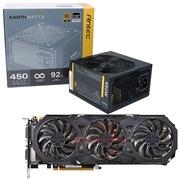 安钛克 额定450W EAG450 金牌电源+技嘉(GIGABYTE)GV-N980G1 GAMING-4GD GTX980 显卡