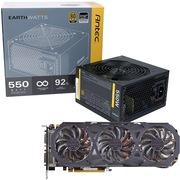 安钛克 额定550W EAG550 金牌电源+技嘉(GIGABYTE)GV-N970G1 GAMING-4GD GTX970  显卡