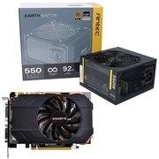 安钛克 额定550W EAG550 金牌电源+技嘉 GIGABYTE GV-N970IXOC-4GD GTX970 显卡