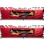 芝奇  Ripjaws 4 DDR4 2666 8G×2 台式机内存 (F4-2666C15D-16GRR) 红色