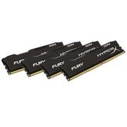金士顿 骇客神条 Fury系列 DDR4 2400 16GB(4GBx4)台式机内存(HX424C15FBK4/16)黑色