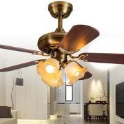 天骏小天使 SF50-5Y3L-55 42寸豪华装饰吊扇灯 客厅餐厅装饰风扇灯电风扇灯 木叶三灯吊顶扇
