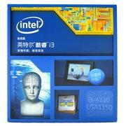 英特尔 酷睿i3-4330 22纳米 Haswell全新架构盒装CPU处理器 (LGA1150/3.5GHz/4MB三级缓存/54W)