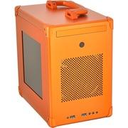 联力 PC-TU110橙色 侧透 ITX 全铝 机箱