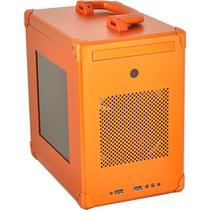 联力 PC-TU110橙色 侧透 ITX 全铝 机箱产品图片主图