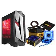 撒哈拉 极速MSX2游戏八件套(机箱+电源+双LED风扇+双灯条+电源线+游戏鼠标垫)