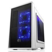 金河田 21+预见 E-3 典雅白 游戏机箱 (全兼容/原生U3/RTX结构/SSD/长显卡/散热/水冷)