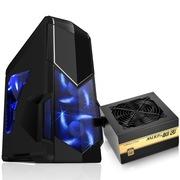 先马 影子战士黑色标准版游戏机箱+金牌500W 额定功率500W(全电压金牌)