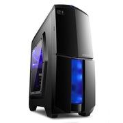 金河田 21+预见 N-8 游戏骑士黑(原生U3/两风扇位/全兼容SSD/上置电源/超长显卡/水冷)
