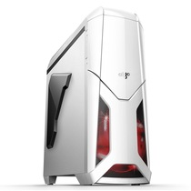 爱国者 X战警机箱白色(标配LED静音风扇12CM*2/USB3.0*2/风扇调速器*2/读卡器/侧透)产品图片主图