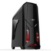 爱国者 X战警机箱黑色(标配LED静音风扇12CM*2/USB3.0*2/风扇调速器*2/读卡器/侧透)
