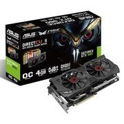 华硕 猛禽STRIX-GTX980-DC2OC-4GD5 1279MHz/7010MHz 4GB/256bit DDR5 PCI-E 3.0 显卡
