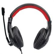 现代  CJC-818MV 头戴式耳机 耳麦 宽大头戴/皮质耳罩/侧面音腔设计/40mm扬声器 黑红