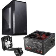 Thermaltake 启航者S3 M-ATX迷你机箱+额定450W 斗龙DPS-450P 电源+Water 3.0 CPU水冷散热器(套装)