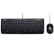 华硕 KM-100黑 超薄有线键鼠套装