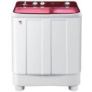 海尔 EPB85159W  8.5公斤 透明盖风干双桶双缸洗衣机(红色)