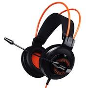 硕美科 G925 头戴式电脑耳麦 电竞游戏耳机 黑橙色