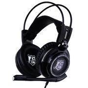 硕美科 G941 白鲨冠军版  游戏耳机 电脑耳麦 头戴式 智能震动 黑色