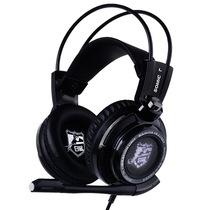 硕美科 G941 白鲨冠军版  游戏耳机 电脑耳麦 头戴式 智能震动 黑色产品图片主图