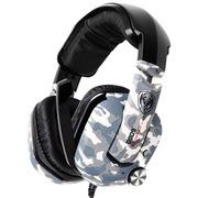硕美科 G909迷彩版 头戴式 7.1声效游戏耳机 电脑耳麦 内置德国VIB增效震动单元  迷彩色