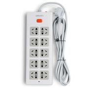 得力 3804 新国标10位总控电源插座/插排/插线板/拖线板 过载保护 2.8米