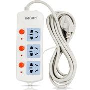 得力 3985 新国标3位分控独立开关电源插座/插排/插线板/拖线板 2.8米