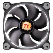 Thermaltake Riing 14厘米LED白色风扇(液压轴承/强化减震系统/独特静音技术/降噪控制线/LED导光圈)