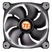 Thermaltake Riing 12厘米LED白色风扇(液压轴承/强化减震系统/独特静音技术/降噪控制线/LED导光圈)