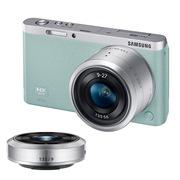 三星  NX mini 微型单电双镜头套装(9mm )/(9mm-27mm) 绿色