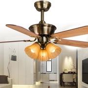 天骏小天使 SF50-5Y3L-05 42寸吊扇灯简约时尚 木叶电风扇吊灯复古欧式仿古 卧室餐厅装饰吊扇灯