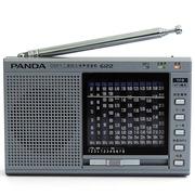 熊猫 6122 高灵敏度十二波段立体声插卡收音机 老年人全波段数码MP3收音机