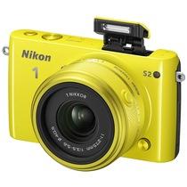 尼康 S2(11-27.5mm f/3.5-5.6) 可换镜数码套机(黄色)产品图片主图