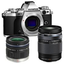 奥林巴斯 E-M5 Mark II(14-150mm II+9-18mm镜头) 微型单电双头套机 银色【行摄天下套装】产品图片主图