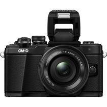 奥林巴斯 E-M10 MarkII-1442EZ 电动镜头 黑色(5轴防抖 内置WiFi 电子快门 高速视频)产品图片主图