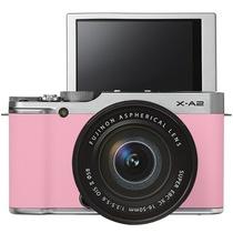 富士 X-A2 微单电套机(XC16-50II)花漾粉 APS-C 自拍翻转屏 WiFi XA2时尚复古产品图片主图