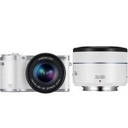 三星 NX300双镜套机 微单电z智能相机 白色双头套机(18-55+45mm3D镜头)